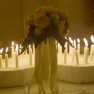 brudbukett o ljus